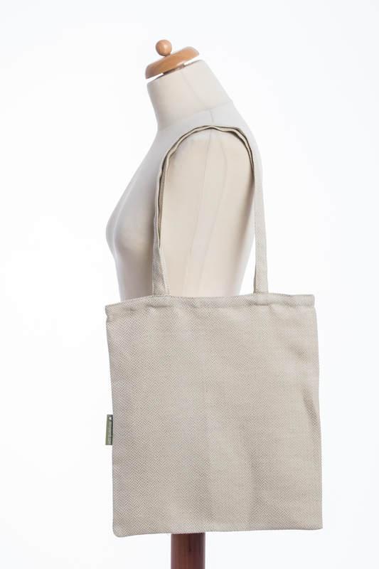 Bolsa de la compra hecho de tejido de fular (60% algodón, 40% lino) - LITTLE HERRINGBONE NATURE #babywearing