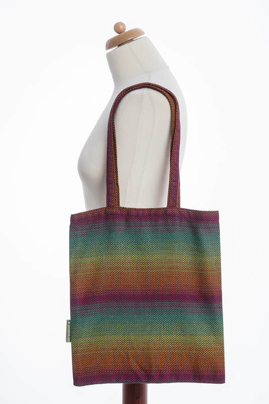Shopping bag made of wrap fabric (100% cotton) - LITTLE HERRINGBONE IMAGINATION DARK #babywearing