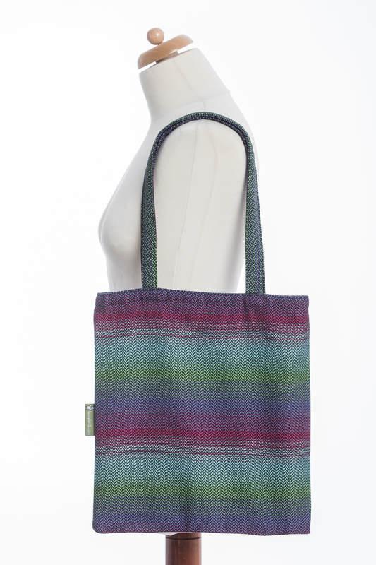 Shopping bag made of wrap fabric (100% cotton) - LITTLE HERRINGBONE IMPRESSION DARK  #babywearing