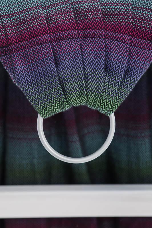 Ringsling, Herringbone Weave (100% cotton) - LITTLE HERRINGBONE IMPRESSION DARK - long 2.1m #babywearing