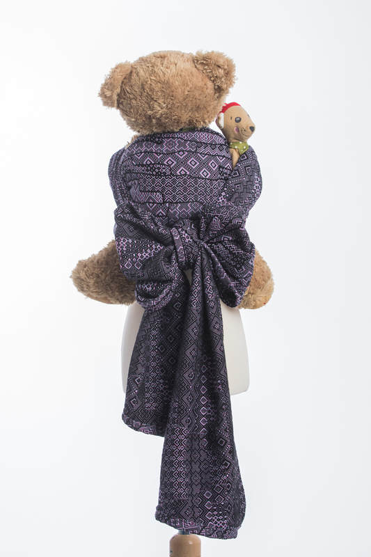 Doll Sling, Jacquard Weave, 100% cotton - ENIGMA PURPLE #babywearing