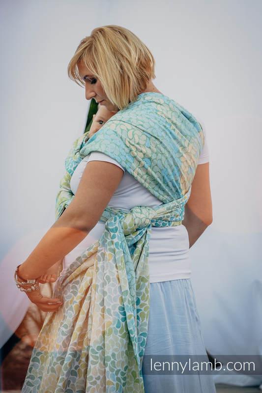 Baby Wrap, Jacquard Weave (100% cotton) - LEMONADE  - size XS (grade B) #babywearing