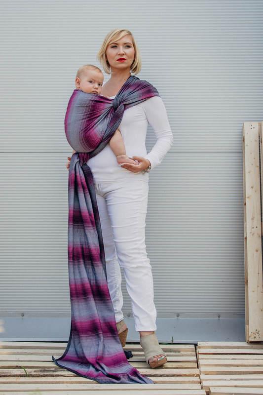 Chusta do noszenia dzieci, tkana splotem jodełkowym, bawełna - MAŁA JODEŁKA INSPIRACJA - rozmiar S #babywearing
