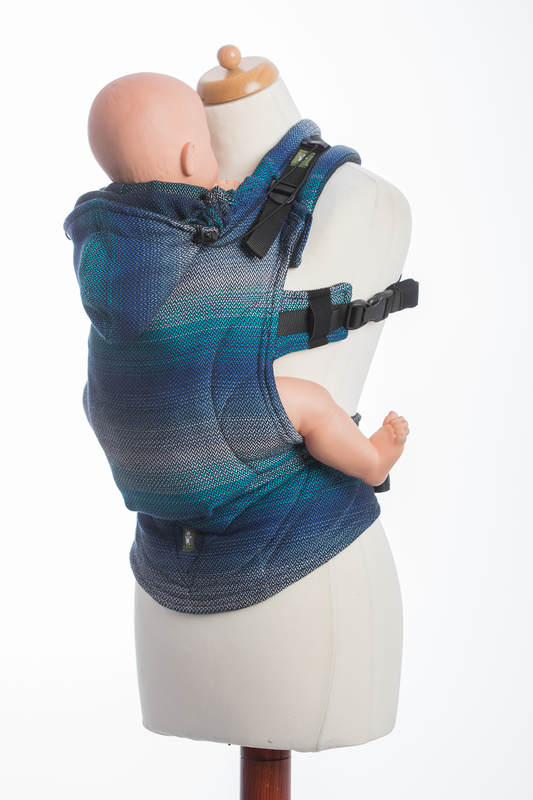 Ergonomic Carrier, Baby Size, herringbone weave 100% cotton - LITTLE HERRINGBONE ILLUSION - Second Generation (grade B) #babywearing