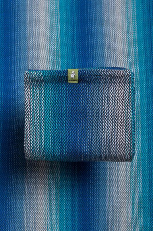 Baby Wrap, Herringbone Weave (100% cotton) - LITTLE HERRINGBONE ILLUSION - size XL (grade B) #babywearing