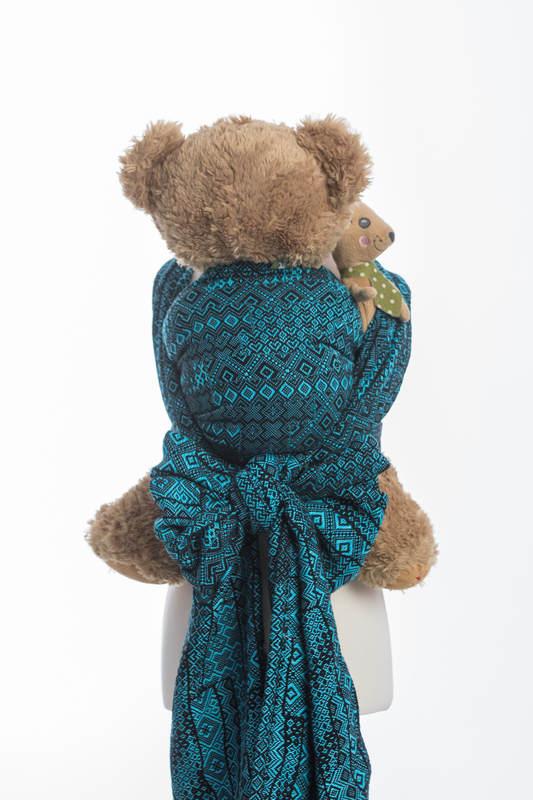 Doll Sling, Jacquard Weave, 100% cotton - ENIGMA BLUE #babywearing