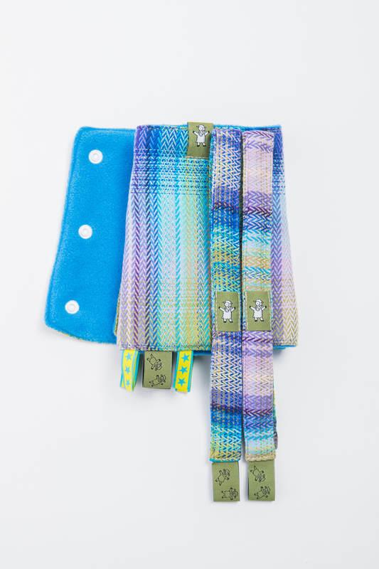 Set de protege tirantes y tiras de alcance (60% algodón, 40% Poliéster) - LITTLE HERRINGBONE PETREA (grado B) #babywearing