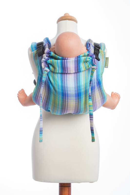 Lenny Buckle Onbuhimo, toddler size, herringbone weave (100% cotton) - Wrap conversion from LITTLE HERRINGBONE PETREA #babywearing