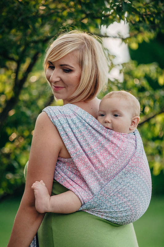 Baby Wrap Jacquard Weave 60 Cotton 28 Merino Wool 8 Silk 4