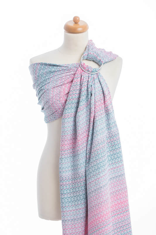 Bandolera de anillas, tejido Jacquard (60% algodón, 28% lana merino, 8%  seda, 4% cachemir) - LITTLE LOVE - ROSE GARDEN (grado B)