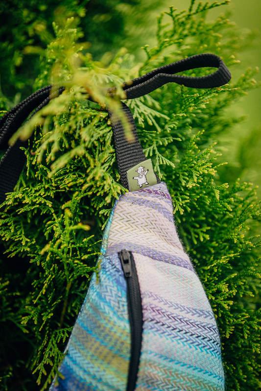 Waist Bag made of woven fabric, (100% cotton) - LITTLE HERRINGBONE PETREA #babywearing
