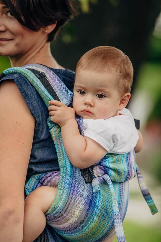 Onbuhimo SAD LennyLamb, talla Toddler, tejido espiga (100% algodón) - LITTLE HERRINGBONE PETREA #babywearing