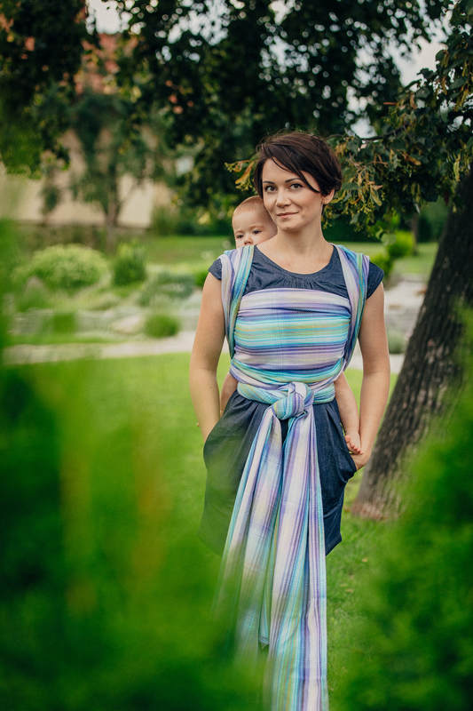 Baby Wrap, Herringbone Weave (100% cotton) - LITTLE HERRINGBONE PETREA - size S #babywearing