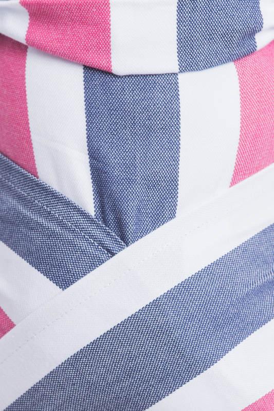 WRAP-TAI carrier Mini / broken twill / bamboo and cotton / with hood/ MARINE #babywearing