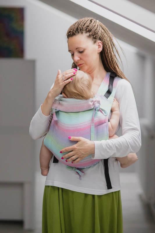 Nosidło Klamrowe ONBUHIMO z tkaniny żakardowej (100% bawełna), rozmiar Toddler - MAŁA JODEŁKA IMPRESJA #babywearing