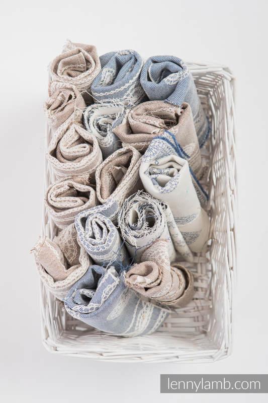Scraps of jacquard wrap materials mix blend #babywearing
