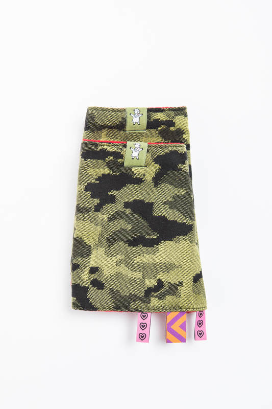 Drool Pads & Reach Straps Set, (60% cotton, 40% polyester) - GREEN CAMO #babywearing