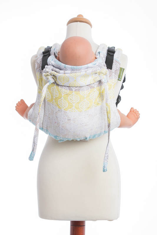 Lenny Buckle Onbuhimo, standard size, jacquard weave (80% cotton, 17% merino wool, 2% silk, 1% cashmere) - Wrap conversion from DAISY PETALS #babywearing