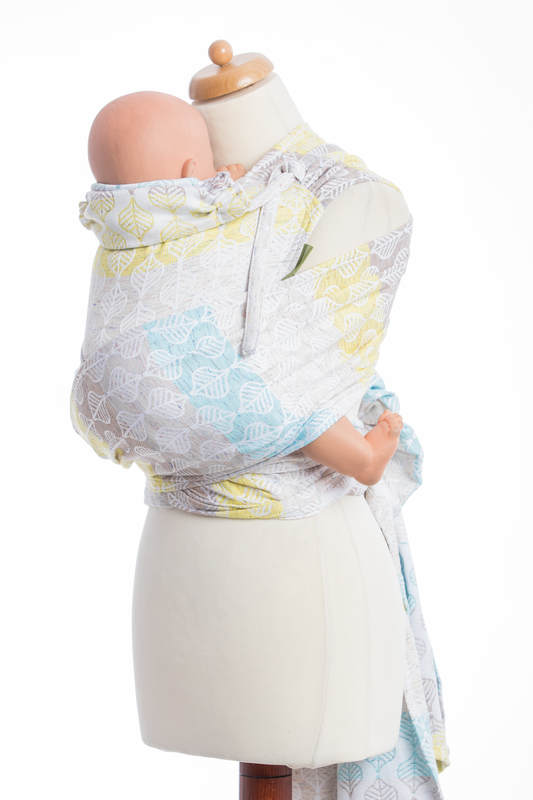 WRAP-TAI carrier Toddler with hood/ jacquard twill / 80% cotton, 17% merino wool, 2% silk, 1% cashmere/ DAISY PETALS #babywearing