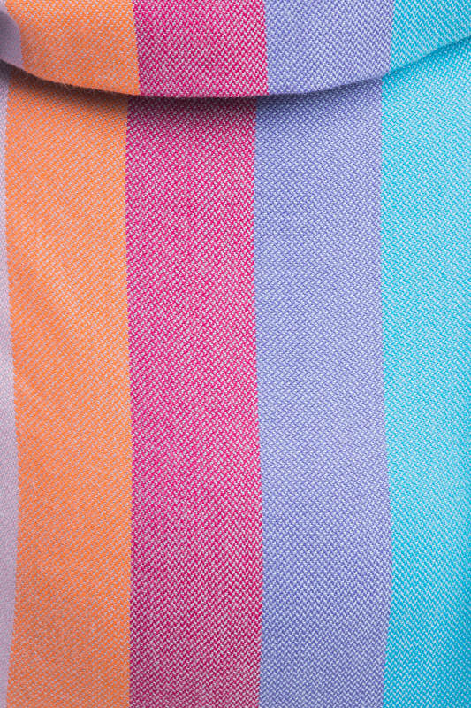 Lenny Buckle Onbuhimo, standard size, broken-twill weave (100% cotton) - Wrap conversion from CORAL REEF (grade B) #babywearing