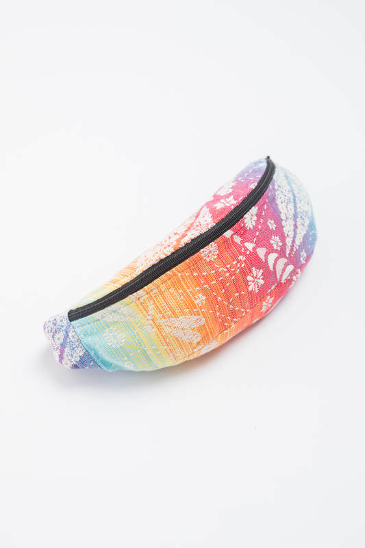 Waist Bag made of woven fabric, (100% cotton) - DRAGONFLY RAINBOW #babywearing