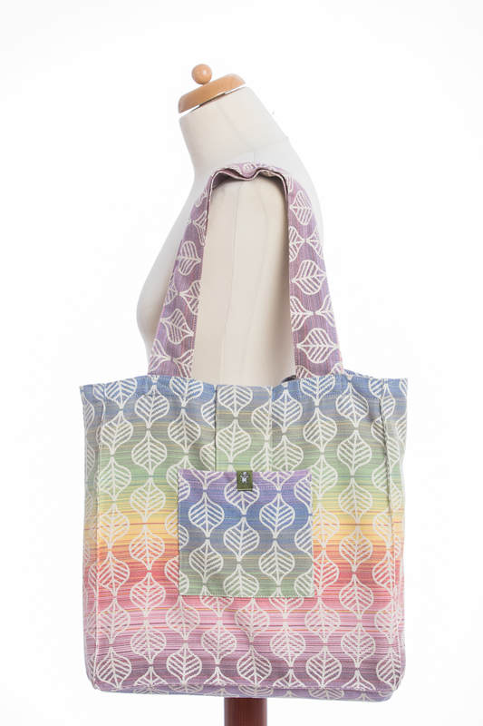 Shoulder bag made of wrap fabric (100% cotton) - TULIP PETALS - standard size 37cmx37cm #babywearing