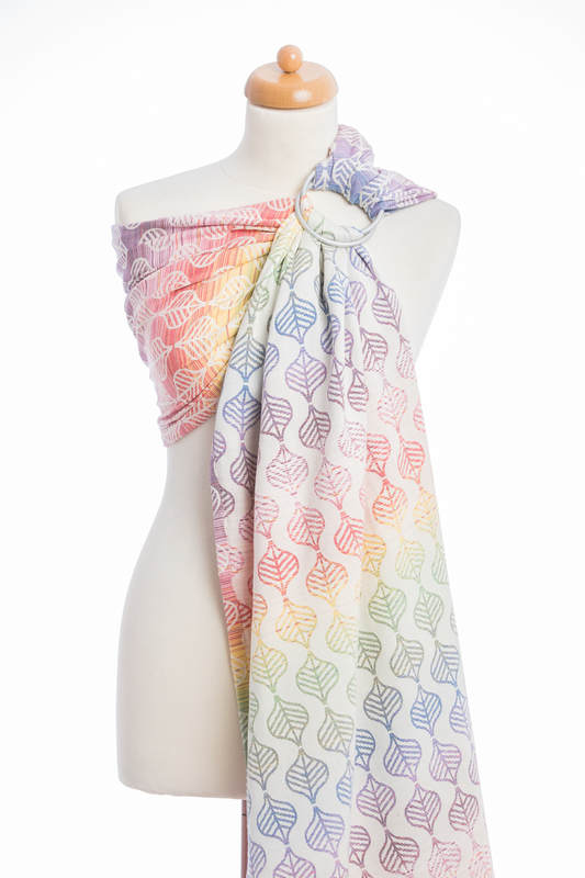 Ringsling, Jacquard Weave (100% cotton) - with gathered shoulder - TULIP PETALS #babywearing