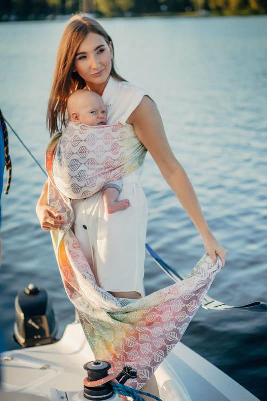 Ringsling, Jacquard Weave (100% cotton) - TULIP PETALS (grade B) #babywearing