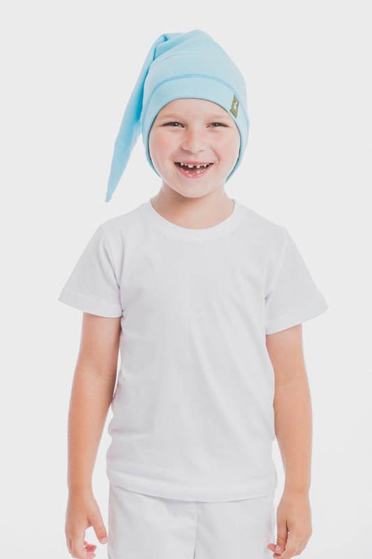Zwergenmütze (100% Baumwolle) - Größe XL - Azurblau #babywearing