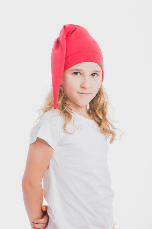 Elf Baby Hat (100% cotton) - size S - Ruby #babywearing