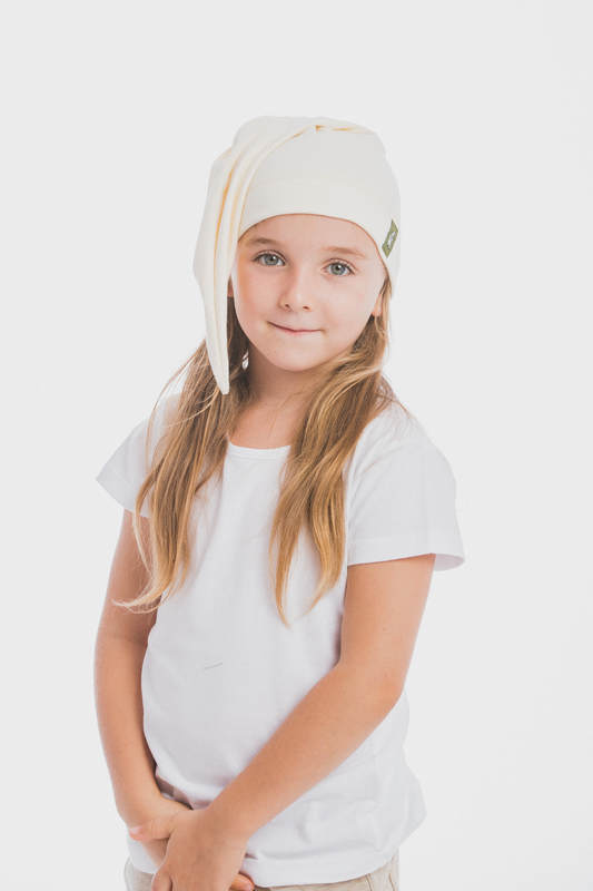 Elf Baby Hat (100% cotton) - size XL - Ivory #babywearing