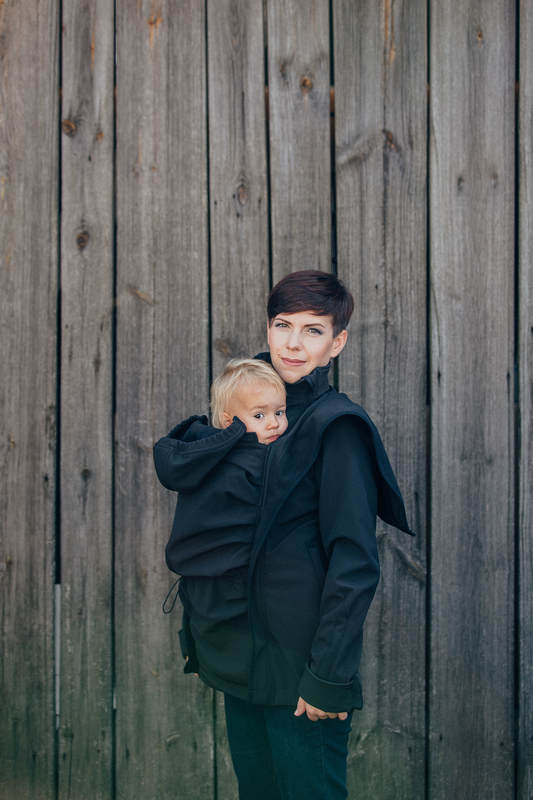 Babywearing Coat - Softshell - Black - XXL #babywearing