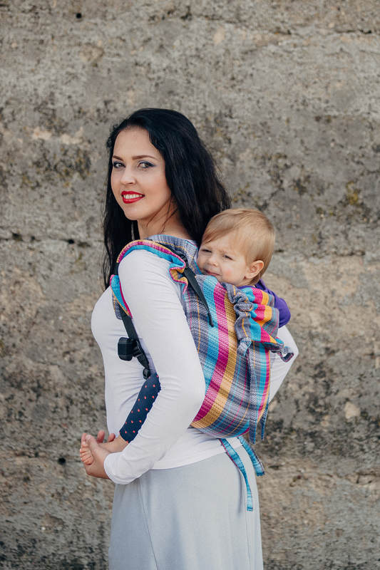 Lenny Buckle Onbuhimo baby carrier, toddler size, herringbone weave (100% cotton) - LITTLE HERRINGBONE CITYLIGHTS #babywearing