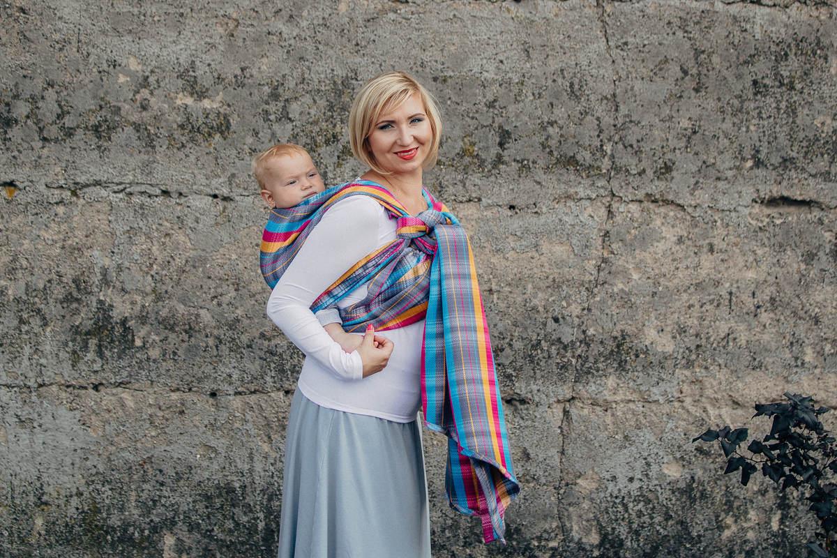 Baby Wrap, Herringbone Weave (100% cotton) - LITTLE HERRINGBONE CITYLIGHTS - size XL #babywearing