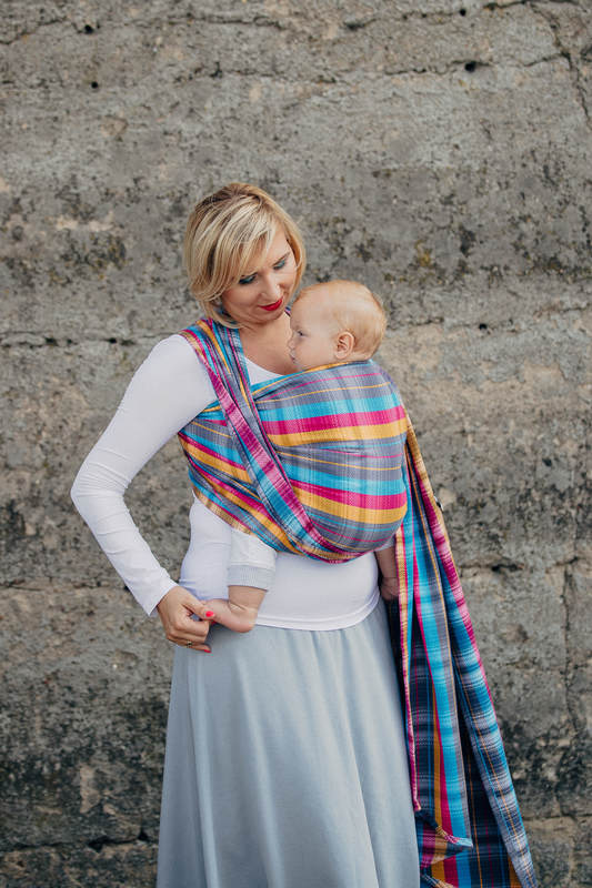 Baby Wrap, Herringbone Weave (100% cotton) - LITTLE HERRINGBONE CITYLIGHTS - size XL #babywearing