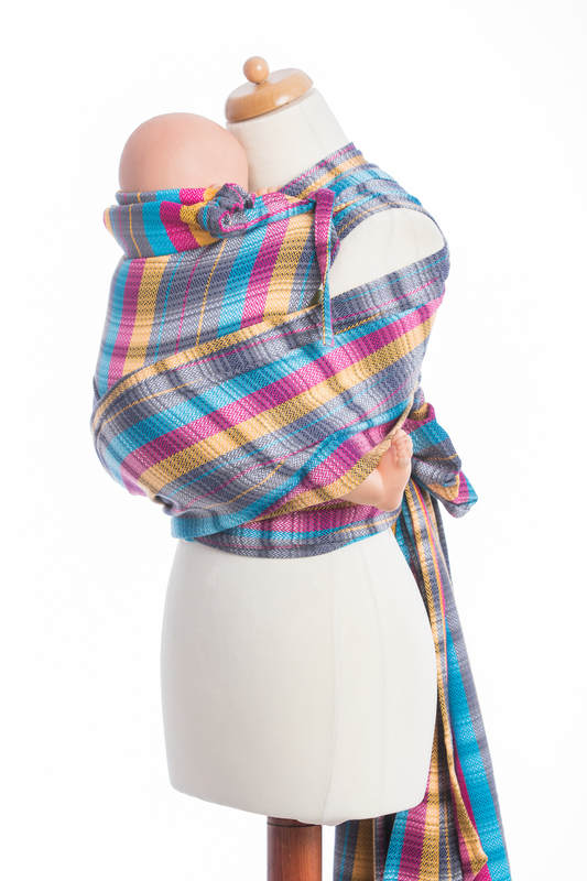 WRAP-TAI carrier Mini with hood/ herringbone twill / 100% cotton / LITTLE HERRINGBONE CITYLIGHTS  #babywearing