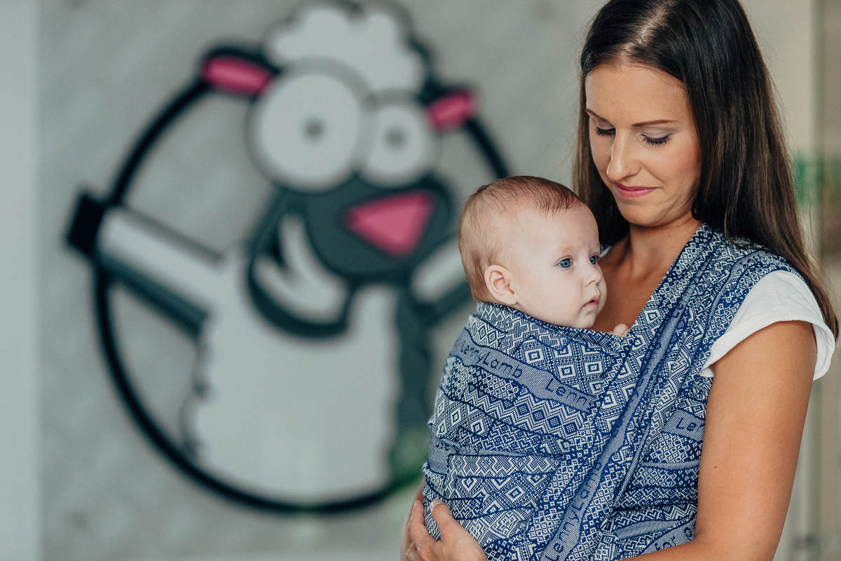 Baby Wrap, Jacquard Weave (100% cotton) - FOR PROFESSIONAL USE EDITION - ENIGMA 1.0 - size M #babywearing