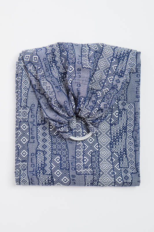 Ringsling, Jacquard Weave (100% cotton), with gathered shoulder - FOR PROFESSIONAL USE EDITION - ENIGMA 1.0 - long 2.1m #babywearing