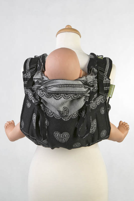 Lenny Buckle Onbuhimo baby carrier, standard size, jacquard weave (100% cotton) - GLAMOROUS LACE #babywearing