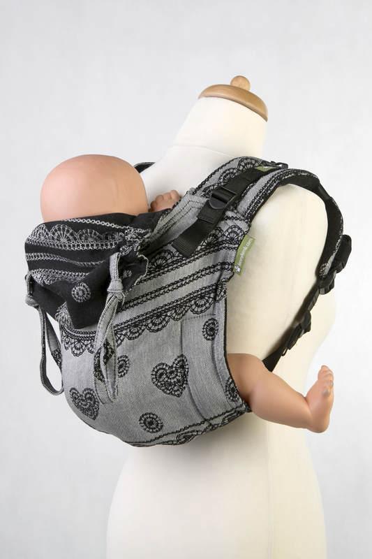 Lenny Buckle Onbuhimo Tragehilfe, Größe Standard, Jacquardwebung (100% Baumwolle) - GLAMOROUS LACE REVERS #babywearing
