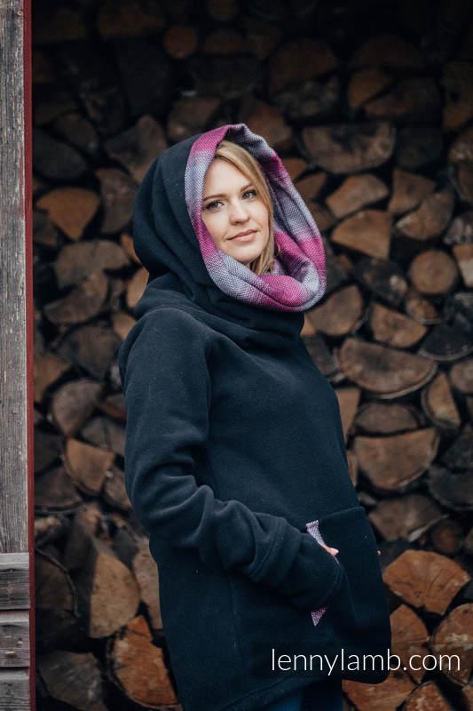 Fleece Sweatshirt - size XXL - black with Little Herringbone Inspiration #babywearing