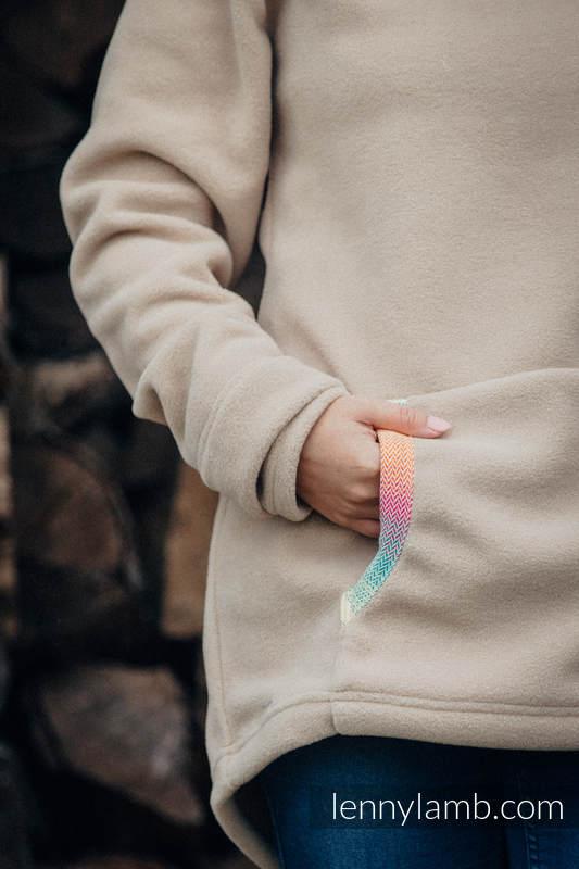 Polarowa bluza - rozmiar XXL - cafe latte z Małą Jodełką Wyobraźnią (drugi gatunek) #babywearing