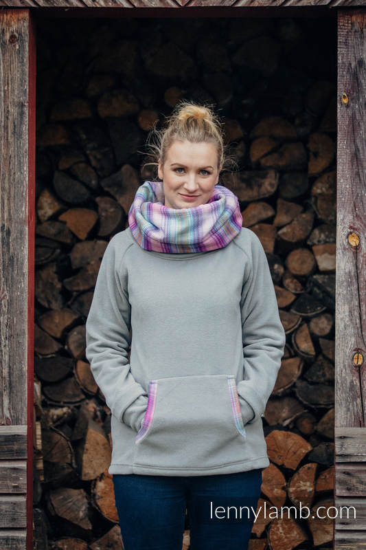 Sudaderas de polar - talla XL - Gris con Little Herringbone Tamonea #babywearing