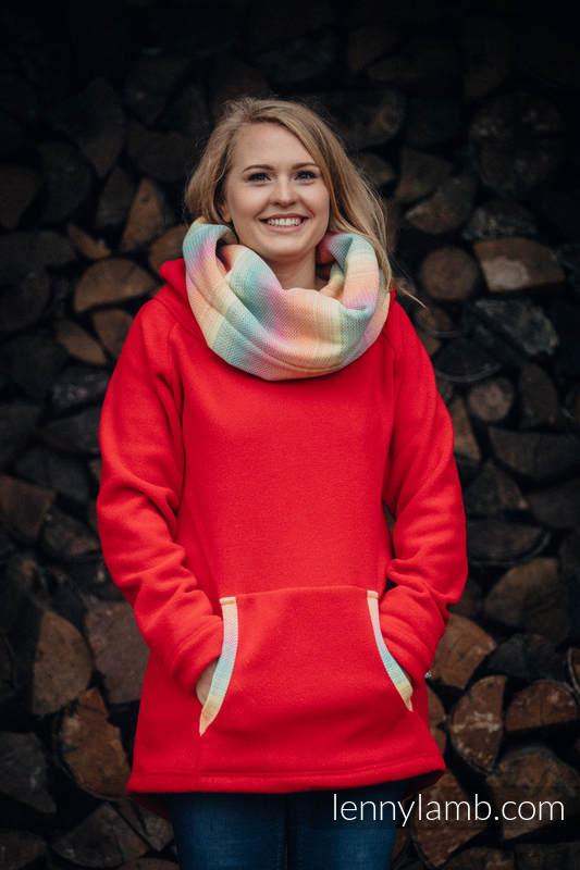 Polarowa bluza - rozmiar M - czerwona z Małą Jodełką Wyobraźnią #babywearing