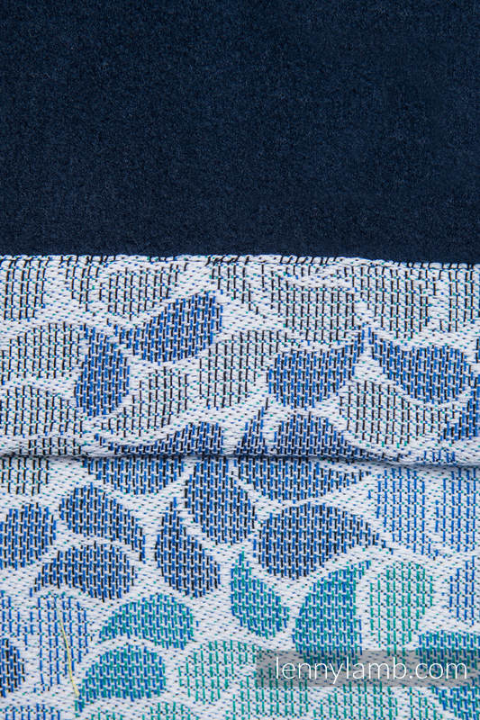 Snood Scarf with  Fleece - COLORS OF HEAVEN & NAVY BLUE #babywearing