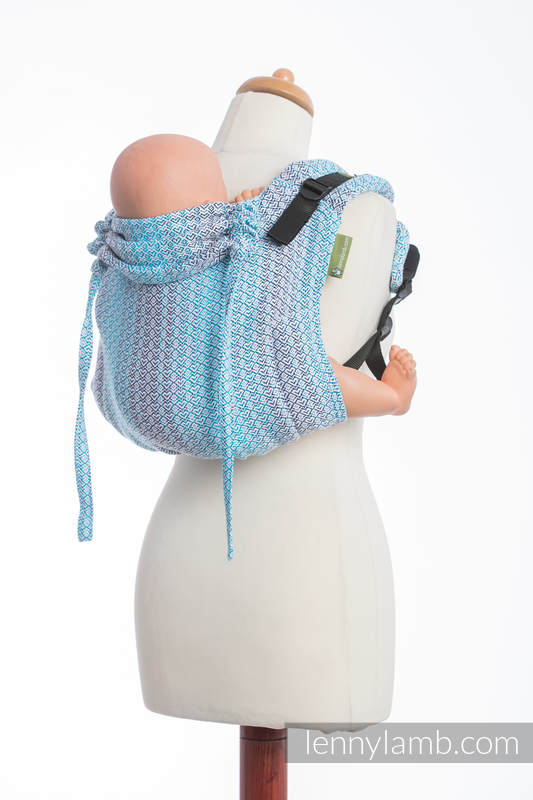 Lenny Buckle Onbuhimo baby carrier, standard size, jacquard weave (100% cotton) - LITTLE LOVE BREEZE #babywearing