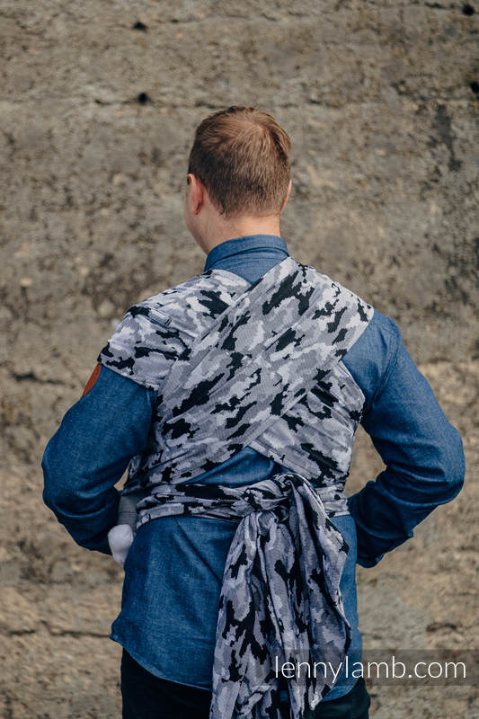 WRAP-TAI carrier Toddler with hood/ jacquard twill / 100% cotton / GREY CAMO #babywearing