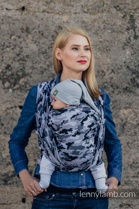 Baby Wrap, Jacquard Weave (100% cotton) - GREY CAMO- size XL #babywearing