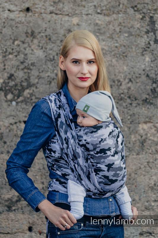 Żakardowa chusta do noszenia dzieci, bawełna - SZARE MORO - rozmiar S #babywearing
