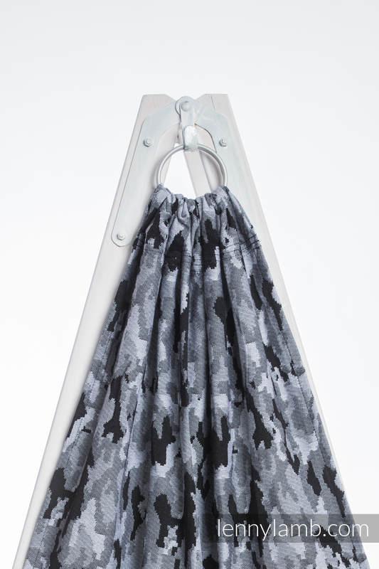 Ringsling, Jacquard Weave (100% cotton) - with gathered shoulder - GREY CAMO (grade B) #babywearing